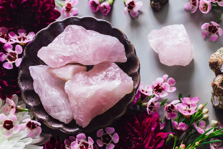Beautiful Rose quartz Crystals