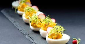 ביצים ממולאות עם מיקרו עירית