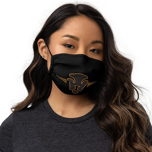 Royal Lion  face mask blk/gld