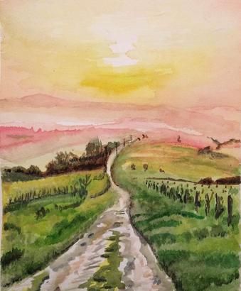 Chemin montant - Berry