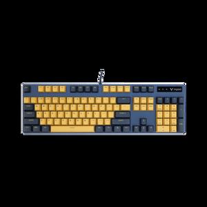 VPRO V500PRO Mechanical Gaming Keyboard (Yellow-Blue)