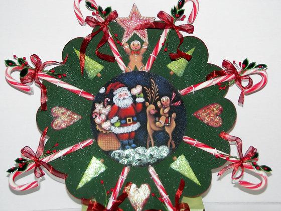 Candy Cane Wreath 186
