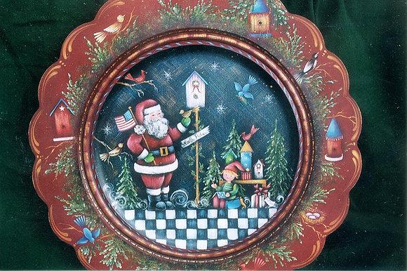 Santa Plate 129