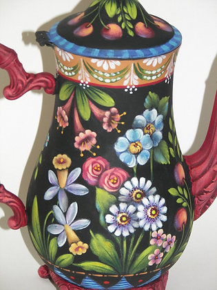 Flowers & Cherries Coffee Pot 234