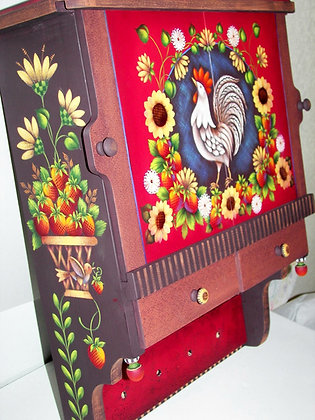 French Country Rooster Cabinet 227
