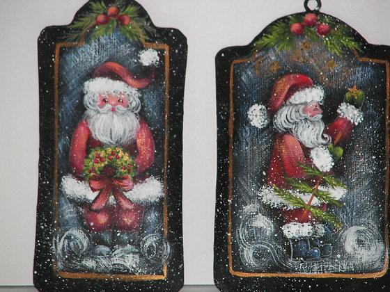 Tin Santa Ornament 162