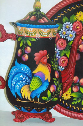 Rooster & Cherries Coffee Pot 225