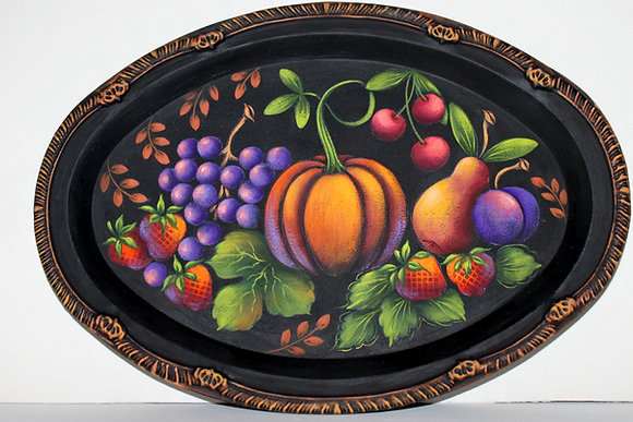 Folk Art Fruit Tray 189