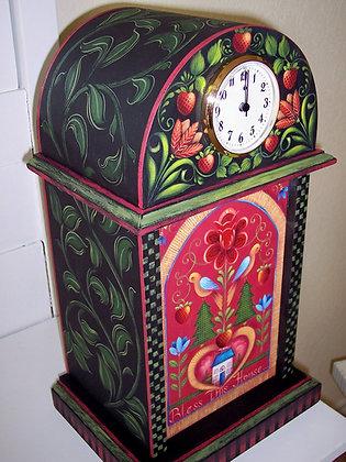 Folk Art Clock 165
