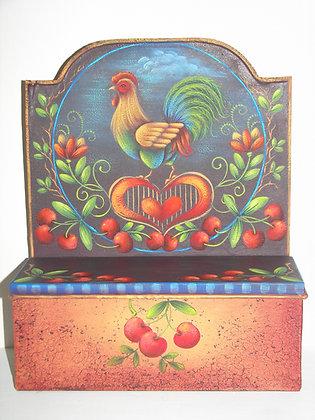Folk Art Tin Candle Box 167
