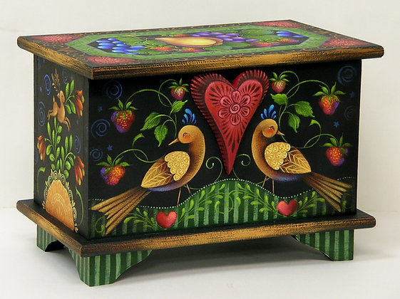Small Trunk w/Fruit & Birds 176