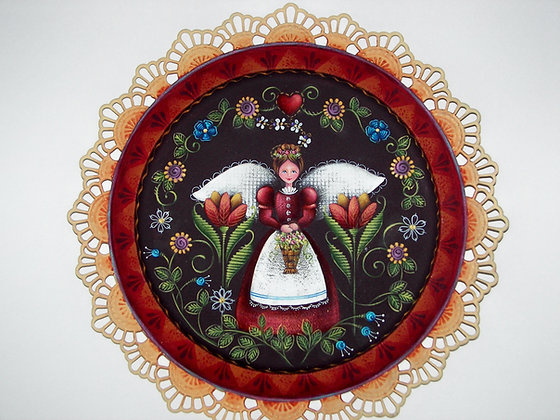 Garden Angel Tapestry Plate 136