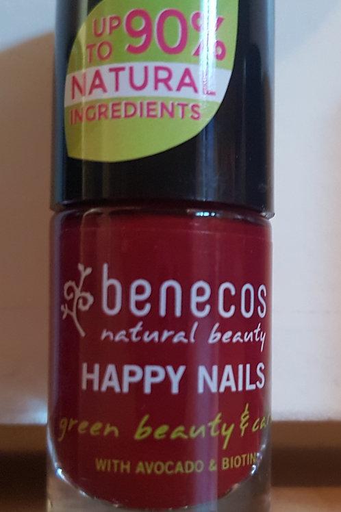 "Vernis à ongle Benecos ""Cherry Red"" 5ml"