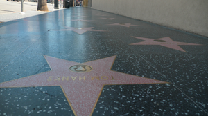 The star of Tom Hanks, COVID victim, on an empty walk of stars.