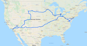 Photo of road map across America filming COVID-19