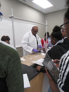 Davis conducting field tests