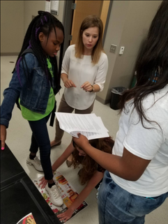 CSAFE assisting students with footprint lab