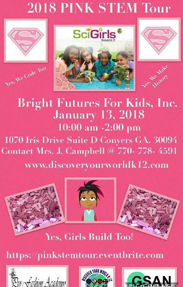 PBS Sci Girl Pink Summer Tour Flyer