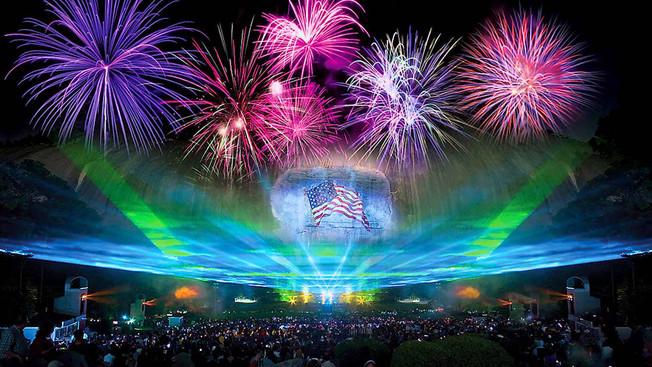 Новое лазерное шоу в Stone Mountain