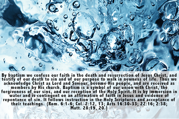 15. Baptism