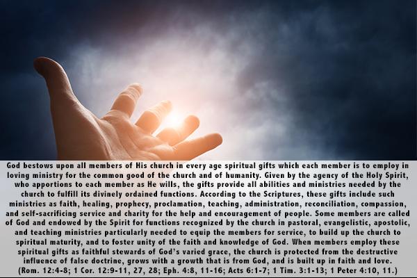 17. Spiritual Gifts
