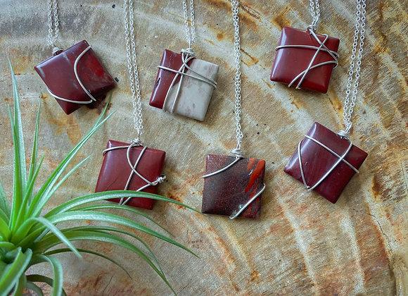 Red Jasper Pendants