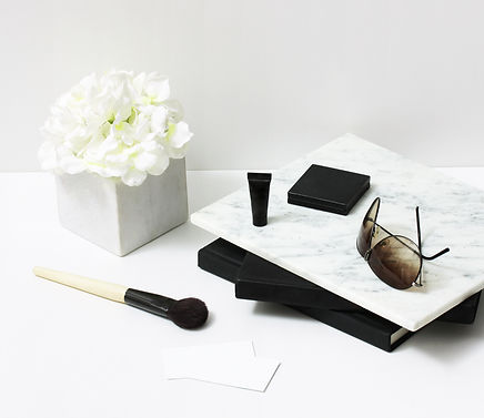 Woman daily makeup cosmetic essentials.