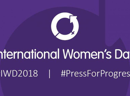#PressforProgress March 8th, International Women's Day