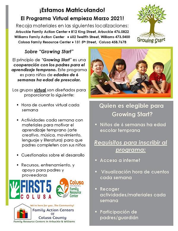 Growing Start Program Flyer S1 2021 (SP)