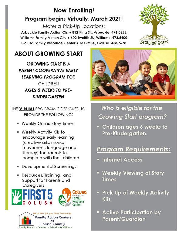 Growing Start Program Virtual Flyer (E).