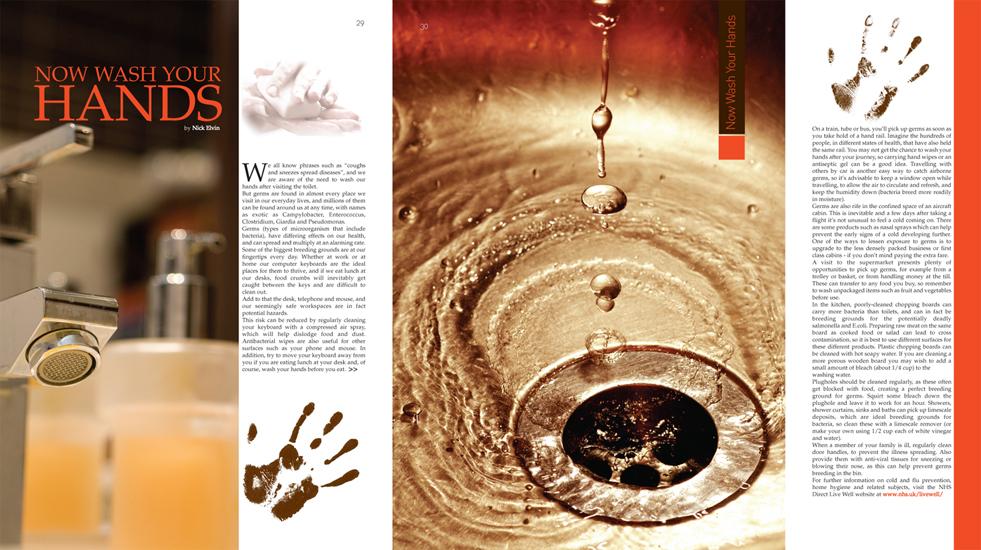 Health Magazine Inside Spread
