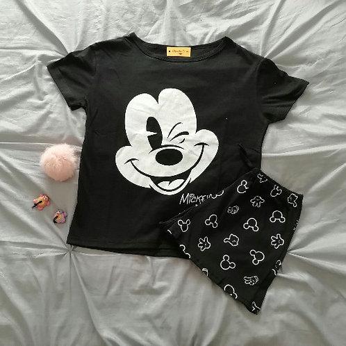 Pijama mickey mujer corto