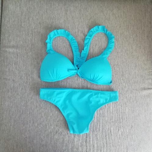 Bikini malena con vedetina celeste