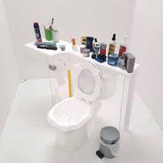 #7 (3504 Hurontario 3807 Bathroom), mixed material, 115cmx50cmx95cm, 2017