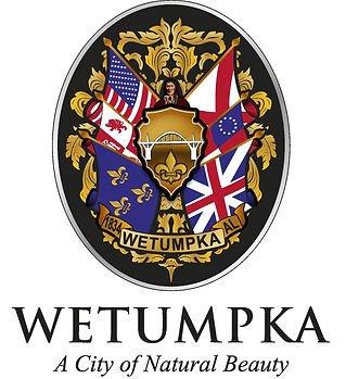New Wetumpka Seal Black Background Logo