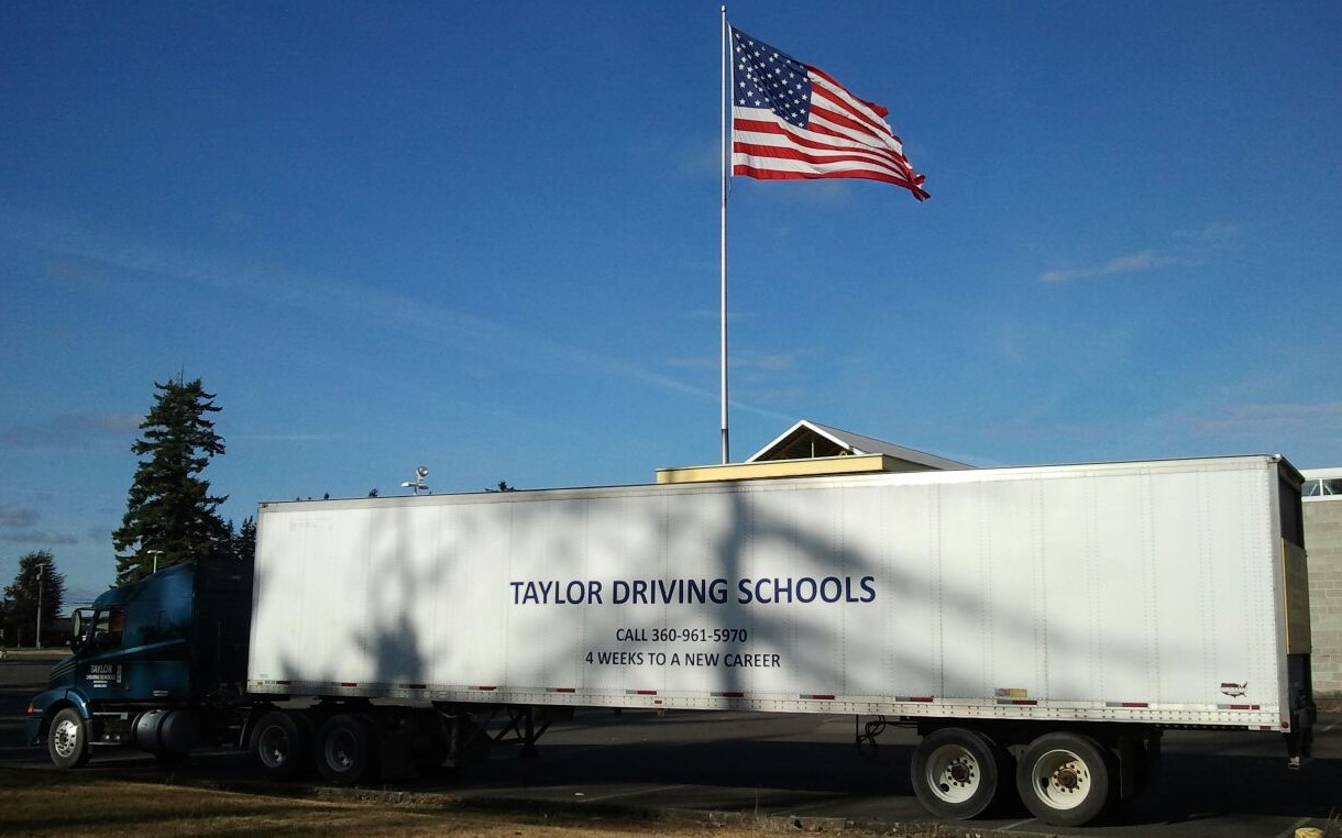 truck with flag
