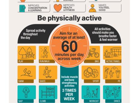 Dicas para aatividade física de crianças e jovens