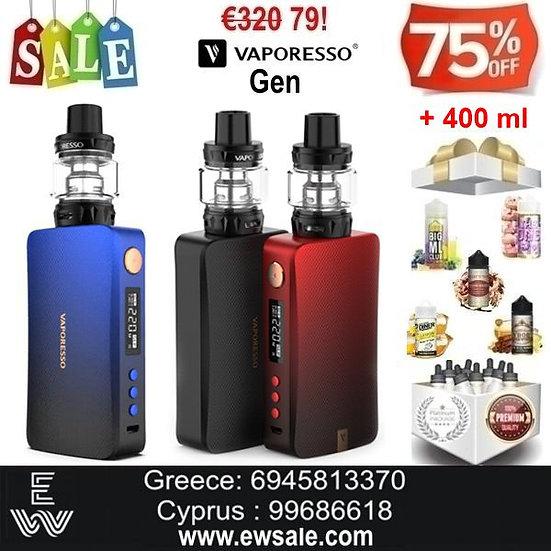 Vaporesso Gen 220W 8ml Kit ηλεκτρονικού τσιγάρου + 400ml Υγρά άτμιση