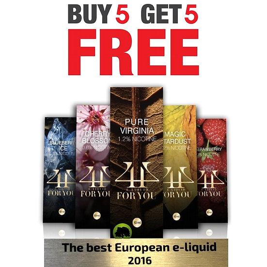 5+5 Award Winning E-Liquids / Βραβευμένα Υγρά άτμισης