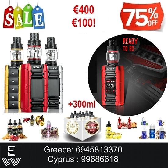 Smok E-Priv + TFV12 Big Baby Ηλεκτρονικό Τσιγάρο + 300ml Υγρά άτμισης