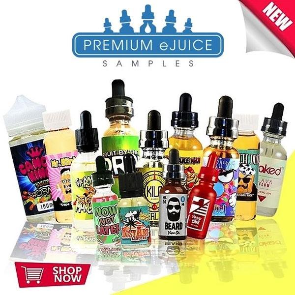 Ew Sample Vape Box - Premium E-Juices, eliquids. A box of e-liquid flavors from the best brands: Halo, Cosmic Fog, Liquid State, Lost Fog, Beard Vape Co, e.t.c