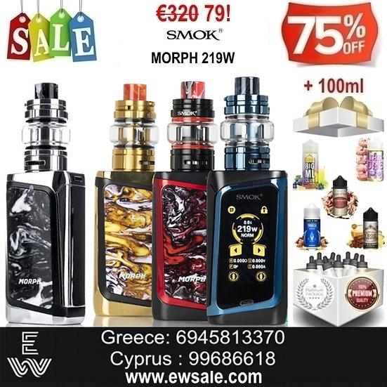 Smok MORPH 219W TC Kit  αφής + 100 ml Δημοφιλή Υγρά άτμισης