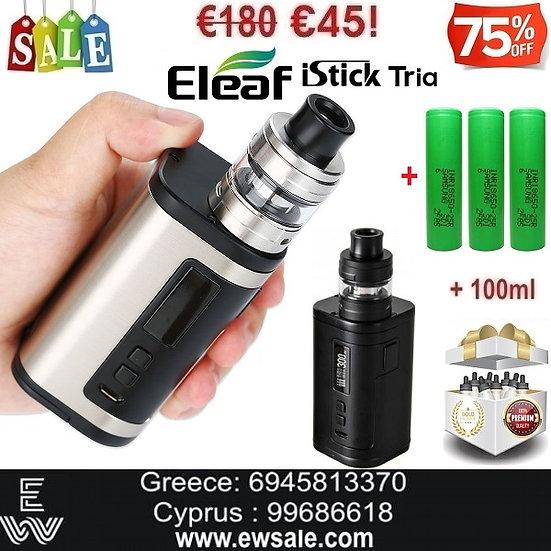 Eleaf iStick Tria ELLO S 300W Hλεκτρονικό τσιγάρο + 3x18650 +100ml Υγρά άτμισης