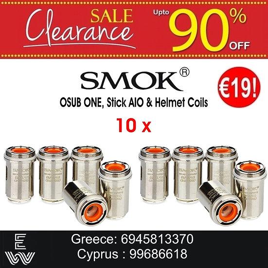 10 Smok OSUB ONE, Stick AIO & Helmet Coils / αντιστάσεις