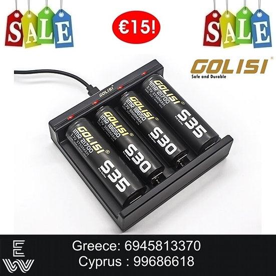 Golisi Needle 4 Smart Charger φορτιστής μπαταριών για Ηλεκτρονικά Τσιγάρα