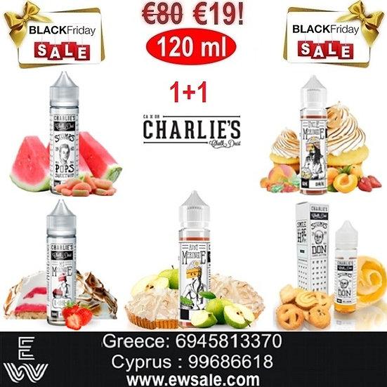 1+1 (120 ml) Charlie's Chalk Dust Υγρά άτμισης