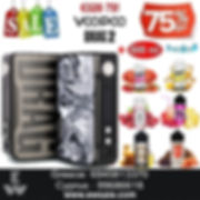 Voopoo DragVoopoo Drag 2 177W TC Box MOD ηλεκτρονικού τσιγάρου + 600 ml Υγρά άτμισης