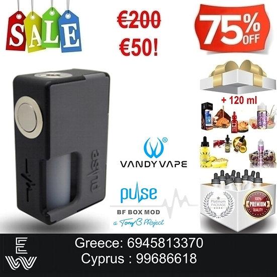 Vandy Vape Pulse BF box mod + 120 mlΔημοφιλή Υγρά Αναπλήρωσης, άτμισης