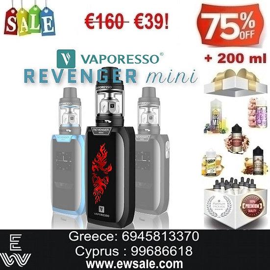 Vaporesso Revenger Mini Ηλεκτρονικό Τσιγάρο + 200 ml Υγρά Αναπλήρωσης