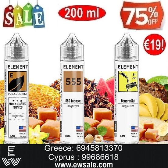 200 ml Element DIY Υγρά Αναπλήρωσης